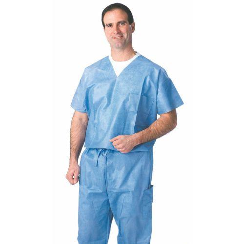 Disposable V-Neck Scrub Shirts