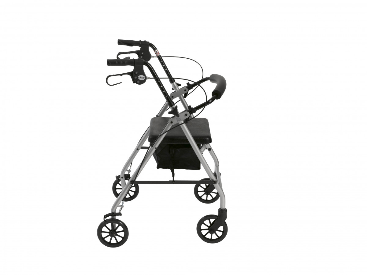 lightweight rollator with fold up and removable back support by drive 75e