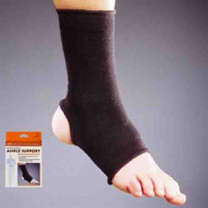 Black Elastic Ankle Support