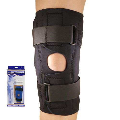 Neoprene Knee Stabilizer Wrap with Hinged Bars
