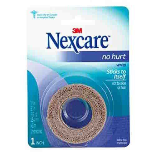 Nexcare No Hurt Cohesive Compression Wrap NHT1 | Tan 1 Inch x 80 Inch by 3M