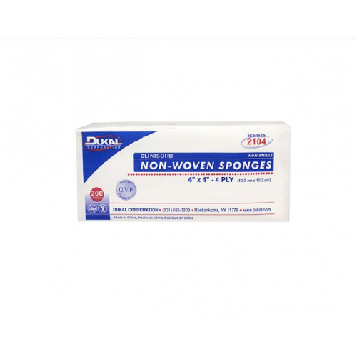 Dukal 2104 Clinisorb 4 x 4 Inch Non-Woven Sponges - Non-Sterile