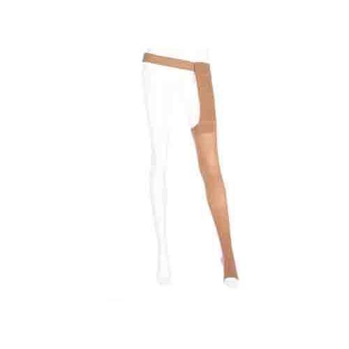 Mediven Plus Thigh High Compression Stockings OPEN TOE w/ Waist Attachment LEFT LEG 30-40 mmHg