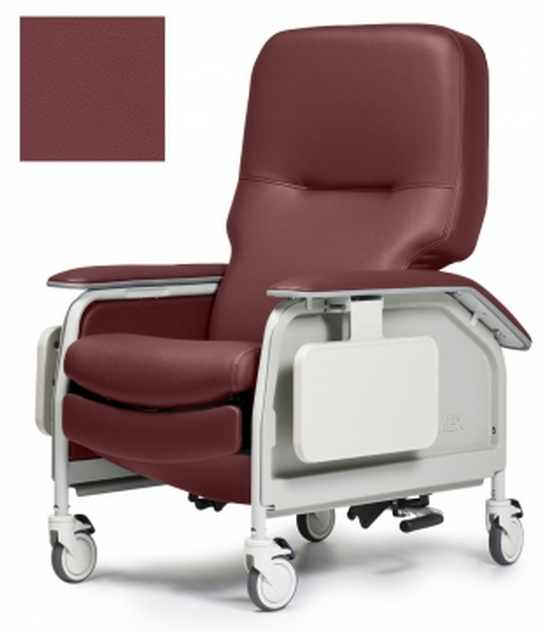 lumex deluxe clinical care geri chair recliner with tray 00a
