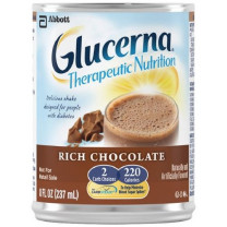 Glucerna Therapeutic Nutrition Shake Rich Chocolate 8 Ounce Cans