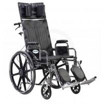 Sentra Bariatric Full Reclining Dual Axle Wheelchair 22 Inch