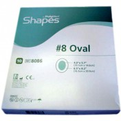 PolyMem Shapes 8086 | #8 Oval Dressing - 6-1/2 x 8.2 Inch Oval Adhesive, 4 x 5.7 Inch Pad by Ferris