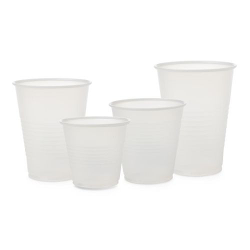 Medline Disposable Cold Plastic Drinking Cups - Transparent