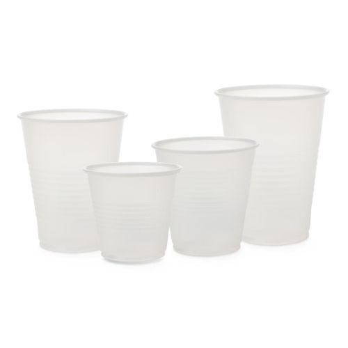 Medline Disposable Cold Plastic Drinking Cups - Transparent