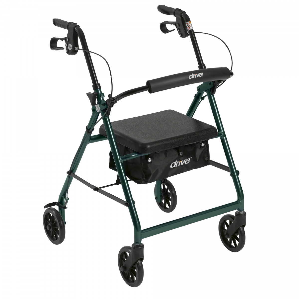 lightweight rollator with fold up and removable back support by drive 3e6