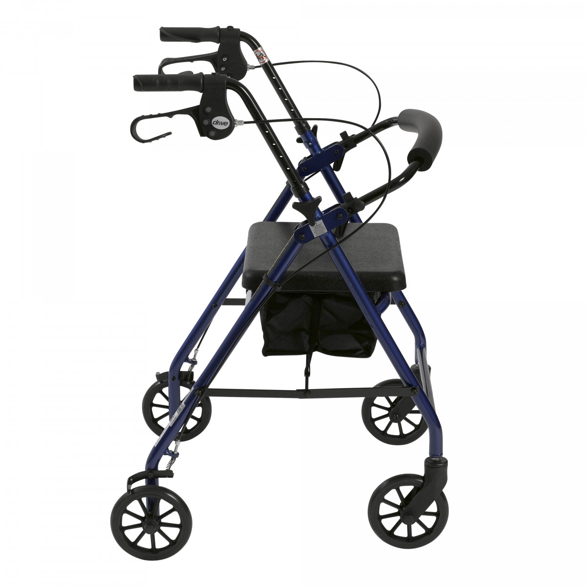 lightweight rollator with fold up and removable back support by drive bdb