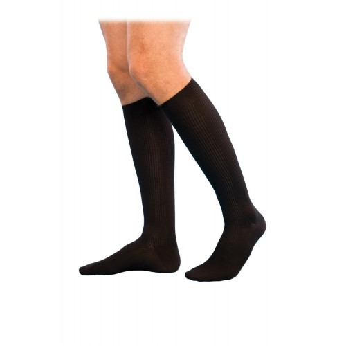 Sigvaris 186C Casual Cotton Men's Knee High Compression Socks CLOSED TOE 15-20mmHg