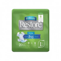 FitRight Restore Super Briefs with Tabs, Maximum Absorbency, For Adult Incontinence, Comfort and Skin Health