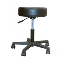 Pneumatic Stool with Padded Seat and Plastic Base