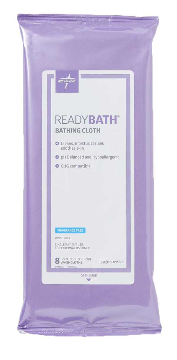 Medline Readybath Bathing Cloths Total Body Standard