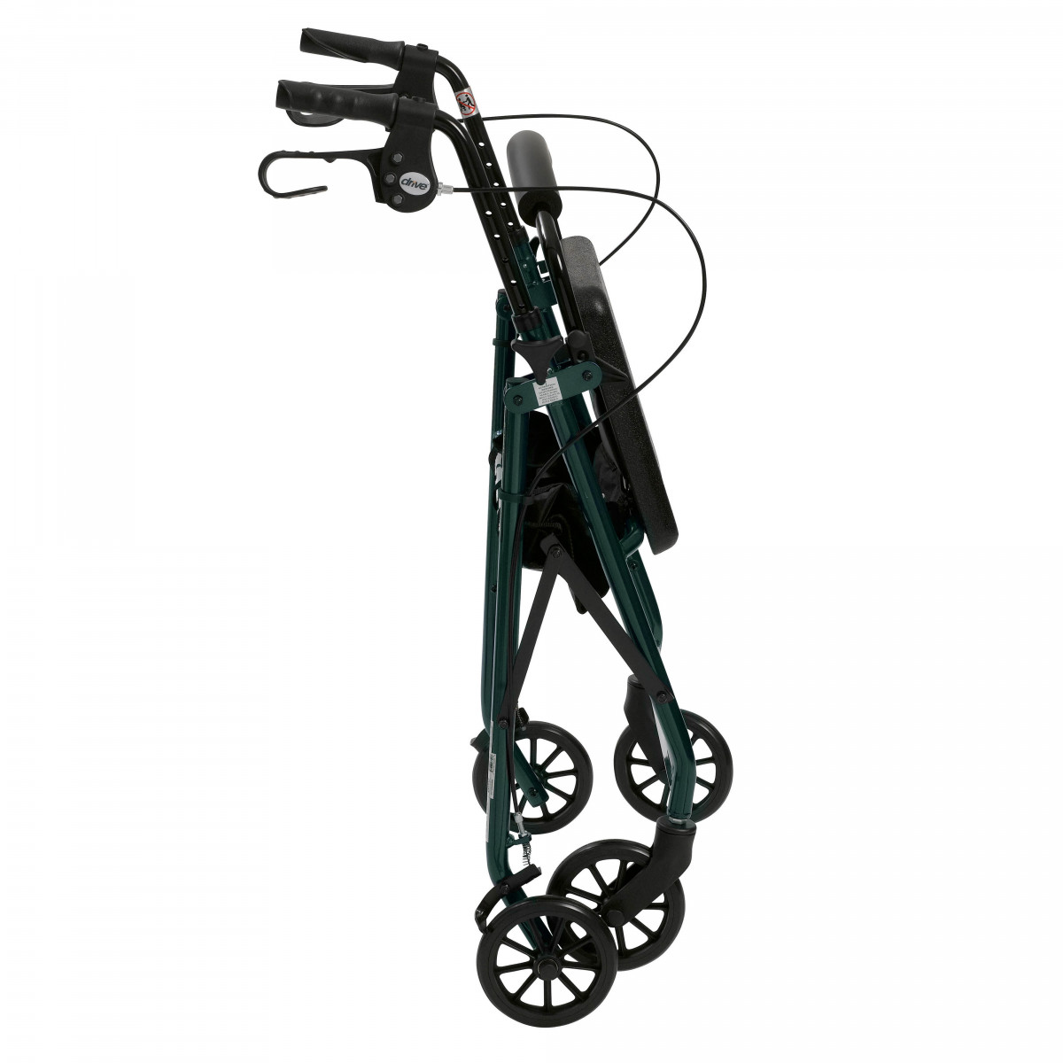 lightweight rollator with fold up and removable back support by drive 0a3