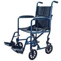 Invacare 19 Inch Lightweight Aluminum Transport Chair w/Swing Away Foot Rest - 9201