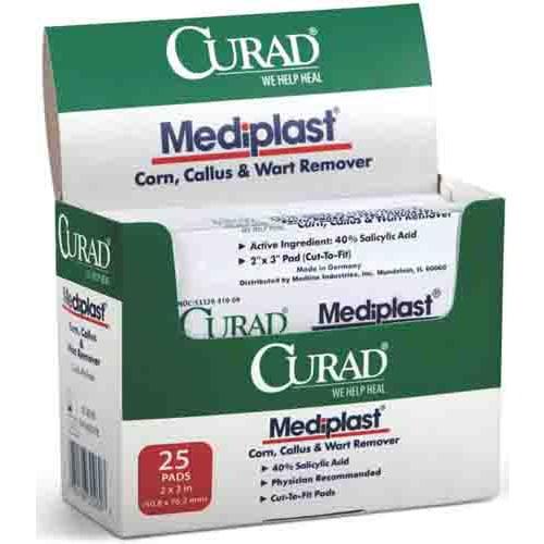 CURAD Mediplast Wart Pads, Latex Free