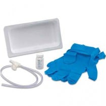 Argyle Graduated Suction Catheter Tray with Chimney Valve, Sterile Water