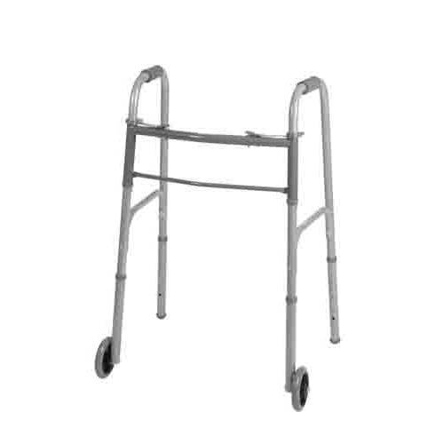Two-Button Walker with 5 Inch Wheels