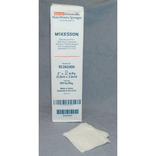 McKesson 92242000 Medi-Pak 2 x 2 Inch 4 Ply Non-Woven Sponges