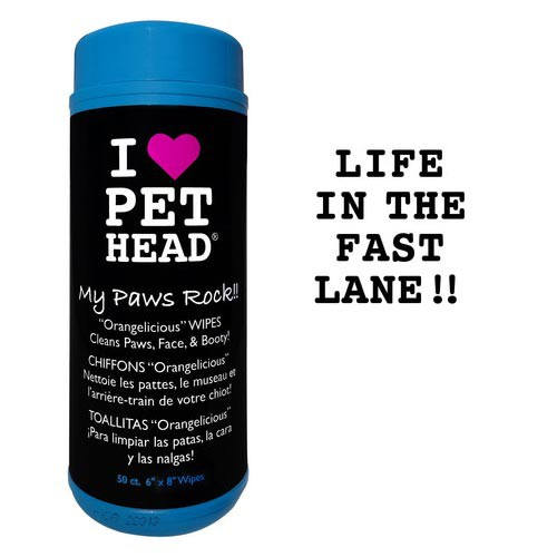 Pet Head My Paws Rock Grooming Wipes