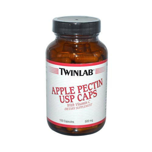 Twinlab Apple Pectin USP Caps 500 mg