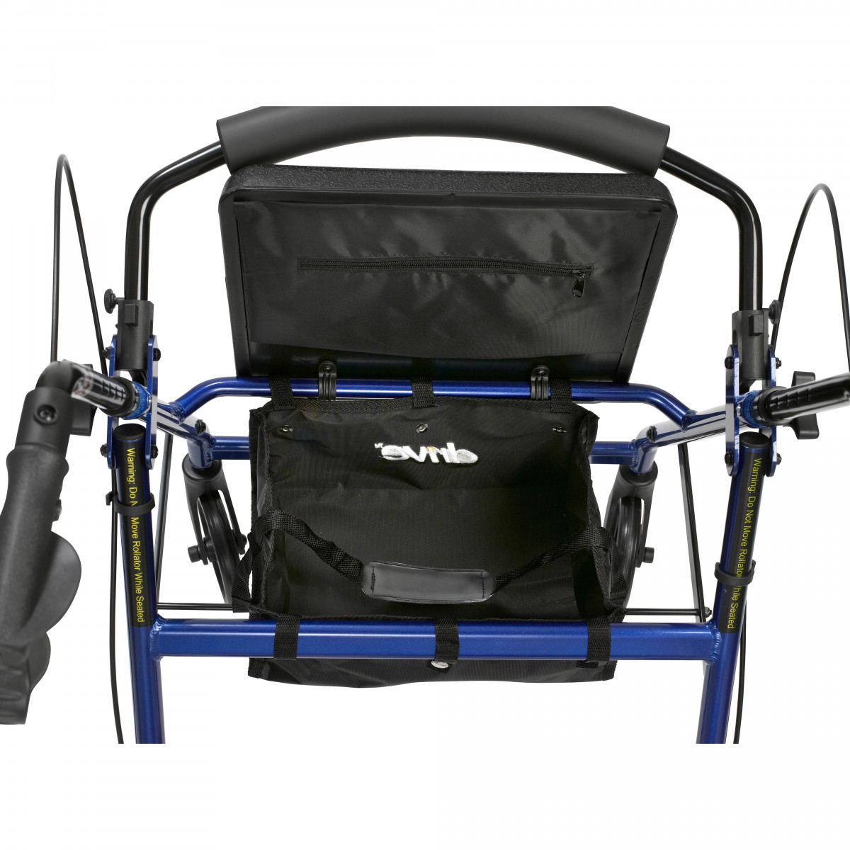 lightweight rollator with fold up and removable back support by drive 6c9