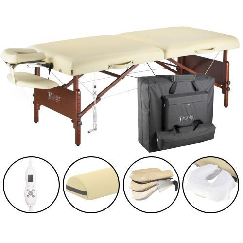 Del Ray Therma-Top Massage Table Pro Package  with Half Round Bolster