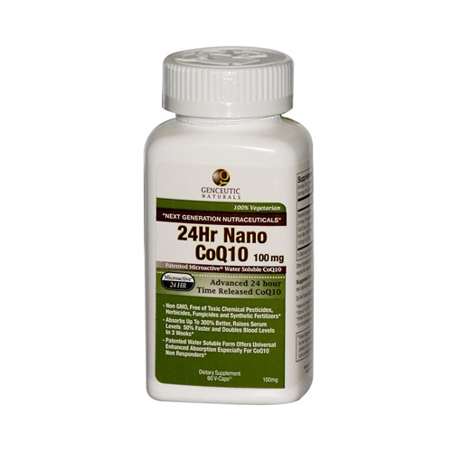 Genceutic Naturals 24 Hour CoQ10 100 mg Dietary Supplement