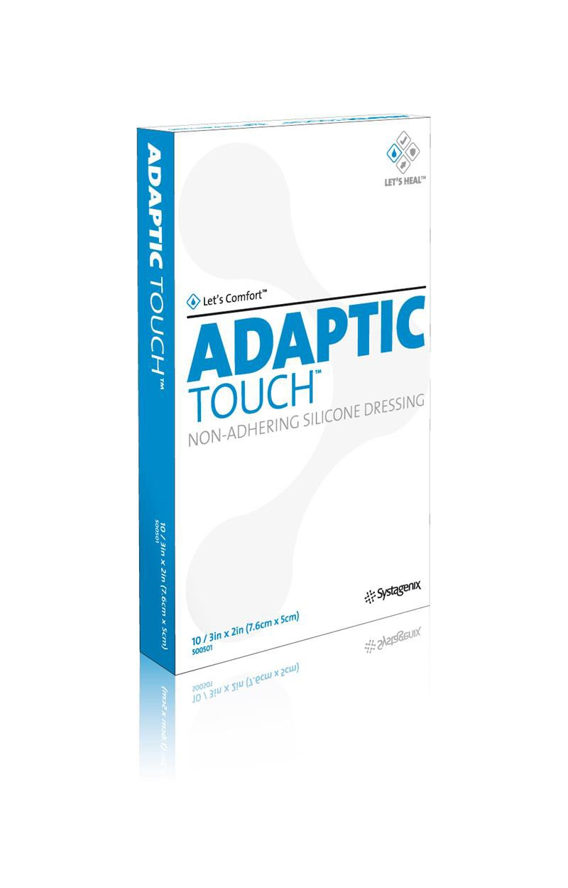 adaptic touch silicone 2 x 3 inch non adherent dressing ea6