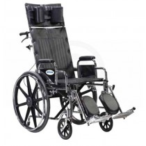 Sentra Bariatric Full Reclining Dual Axle Wheelchair 22 Inch