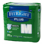 FitRight Plus Adult Briefs with Tabs, Heavy Absorbency