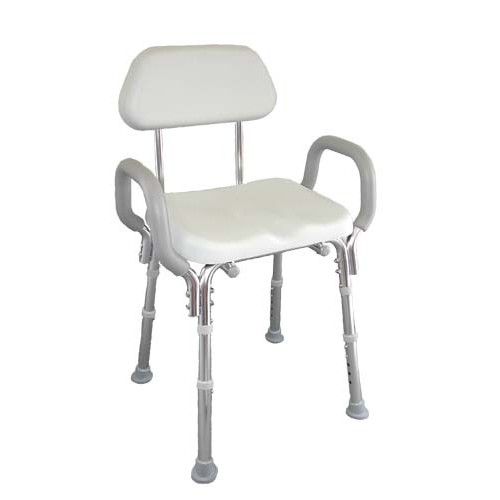 Shower Chair with Padded Seat, Arms and Back