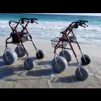 Debug Beach Wheelchairs on the Beach, Husky and Petite Frame