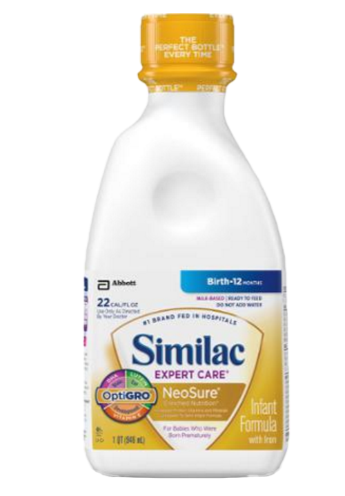similac expert care neosure with optigro infant formula 75e