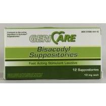 Bisacodyl Laxative Suppositories – 10mg