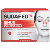 Sudafed PE Sinus Congestion Maximum Strength Nasal Decongestant