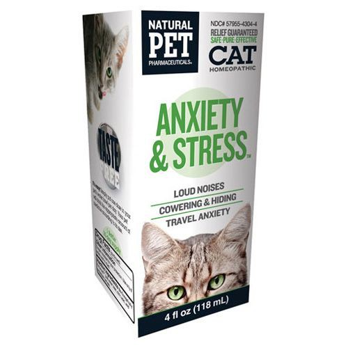 Homeopathic Natural Pet Cat Supplement - Anxiety and Stress