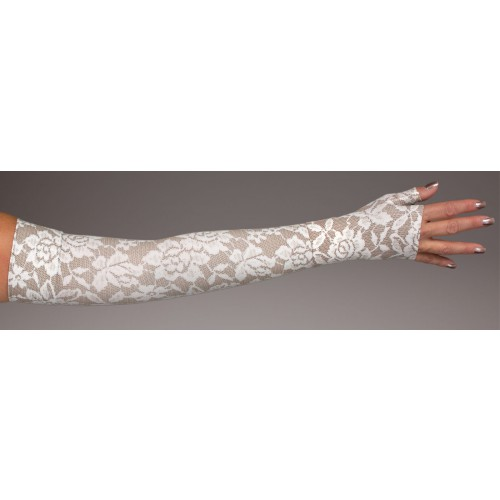 LympheDivas Darling Dark Compression Arm Sleeve 30-40 mmHg w/ Diva Diamond Band