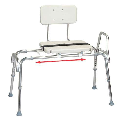 Transfer Bench with Blow Molded Seat and Back, Long