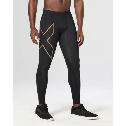 Men's Elite MCS Compression Tights, Black/Gold