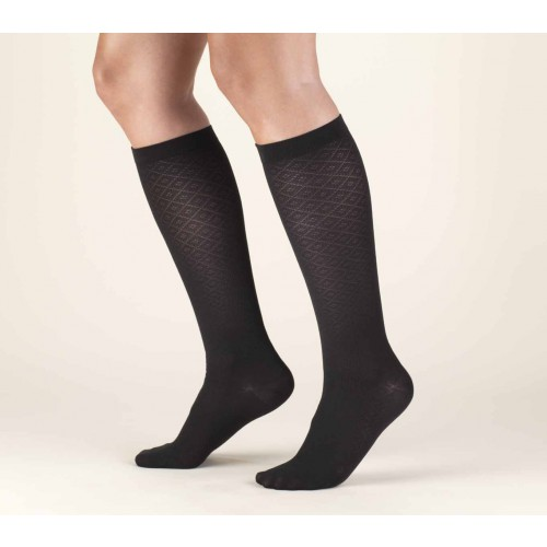 TRUFORM Women's Diamond Knit Trouser Socks 10-20 mmHg