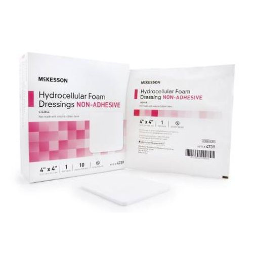 Mckesson Foam Dressing Non-Adhesive without Border.  Sterile.