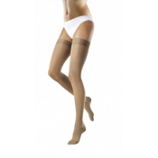VENOSOFT Thigh High Compression Stockings CLOSED TOE 20-30 mmHg Beaded Silicone