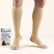 Truform Knee High Compression Stocking Soft Top Open Toe 20-30 mmHg
