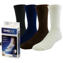 Jobst SensiFoot Unisex Crew Length Diabetic Mild Compression Socks 8-15 mmHg
