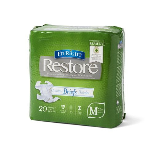 FitRight Restore Adult Briefs with Tabs, Heavy Absorbency
