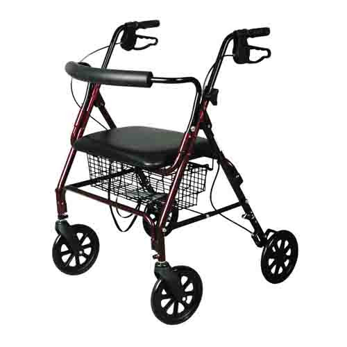 """Medline Heavy Duty Bariatric Mobility Rollator with 8"""" Deluxe Wheels, 400 lbs Capacity"""
