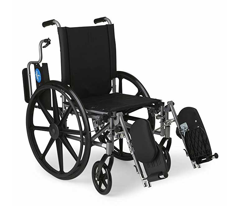 medline strong and sturdy wheelchair 2fb